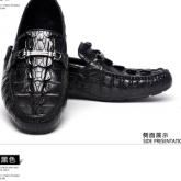 LA-1602 政泽妮 鳄鱼皮豆豆鞋真皮男鞋夏季休闲平底驾车鞋真皮软底懒人鞋