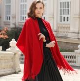 AF-201 政泽妮  女 秋冬季 纯色 加厚 围脖 长款 大披肩 两用 百搭 羊毛围巾