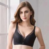 2020新品  政泽妮 AA-2072 厚杯 裸感乳胶 透气丝绵 梅花蕾丝  文胸  套装