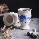 2020新品 AC-2091  陶瓷 艾灸 刮痧 杯